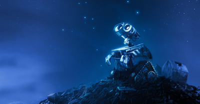 Wall-E finds himself on top of the heap
