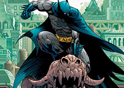 Batman is so awesome he's going to beat the information he wants out of that stone gargoyle...