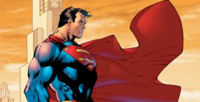 Don't have Superman stare deeply into middle distance. The dude has X-Ray vision and can see the wings on a fly several miles away.