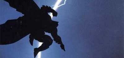 Lucky Batman was doing something dramatic when that lightening struck...