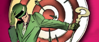 When the Riddler heard he was the new host of Bullseye, he didn't know that people would take the title so literally...