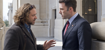 Russell Crowe attempts to explain the plot twists of State of Play to a confused Ben Affleck...