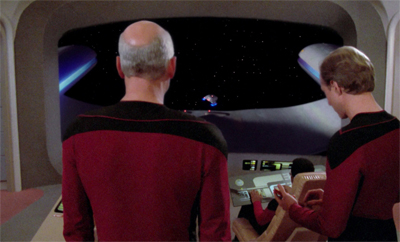 Leavin' on a shuttlecraft...