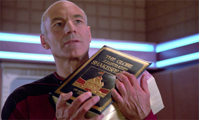 Looks like Picard is about to throw the book at him...