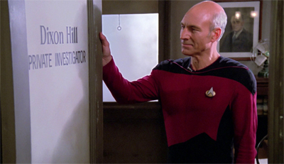The holodeck certainly opens new doors for writers...