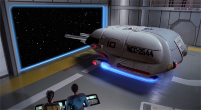 Leavin' on a shuttlecraft...