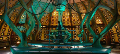 The Doctor, in the TARDIS... with nobody...
