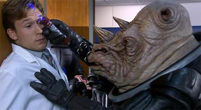 Grabbing the Judoon by the horn...