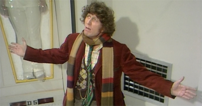Tom Baker does his best David Tennant impression...
