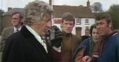 On re-establishing communication with the outside world, the Third Doctor was disappointed to discover that capes were still not cool.