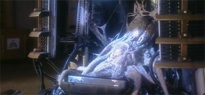 A Dalek sunbathing topless...