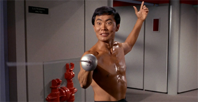 Sulu takes a stab at fencing...