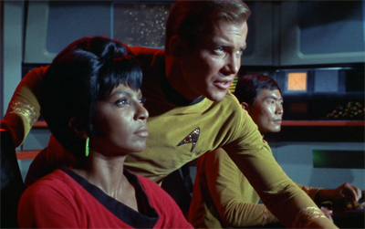 Uhura could quickly spot where the trouble was hailing from...