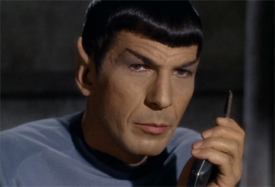 Spock counts down the minutes until his first command...