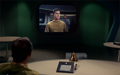 Watching Star Trek reruns is the best part of Mendez's job...