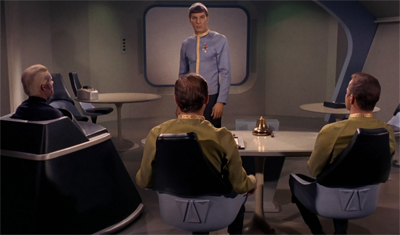 Spock's plan to stall the court with his home movies was really paying off...