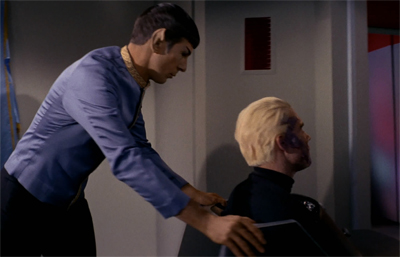 Spock could always steer Pike clear of trouble...