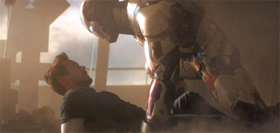 Admit it, this probably pretty high on Tony Stark's romantic fantasies...