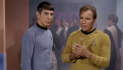 """""""Smoke coming from the computer banks? Natives standing confused in the corridor? I believe our work here is done, Mr. Spock..."""""""