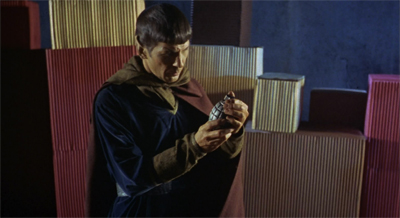 The grenade might be a bit much, but Spock is really rocking the cape and leggings combo...