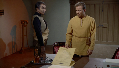 Kirk's disguise is paper-thin...