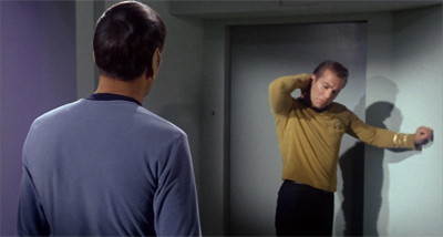 "Jim's really angling for that special ""Vulcan Back Rub""..."