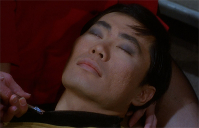 Sulu really got it in the neck...