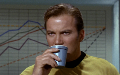 Kirk likes his coffee like his likes his devils... in the dark...