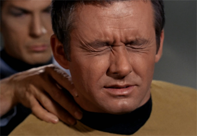 Spock can be a real pain in the neck...