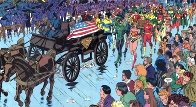 With all the superheroes in Metropolis, America's crime rates skyrocketted during that three-hour block...