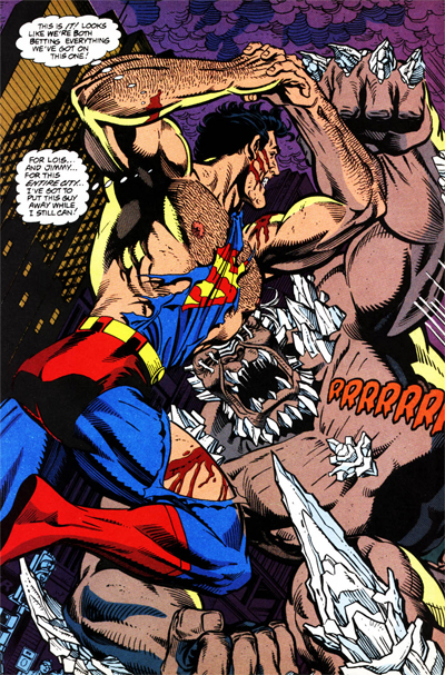 Superman's true power, it seems, was hitting things, really hard...