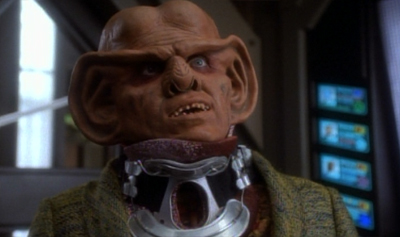 Quark puts his neck on the line...