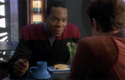 Giving Sisko something to chew over...