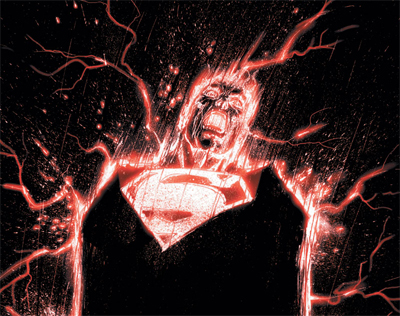 Electric red Superman...
