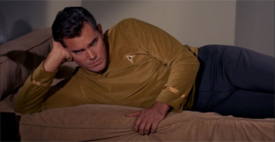 If you imagine William Shatner in this pose, it becomes a very different scene...