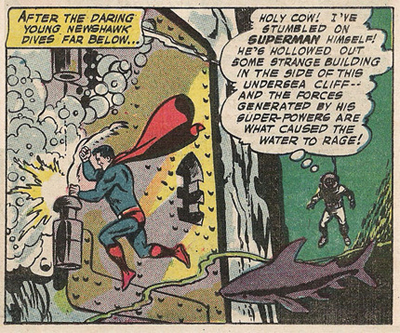 Superman's new hideout is a bit of a dive...