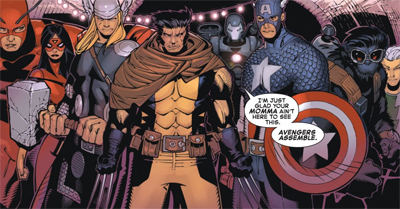 Wolverine and the Avengers...