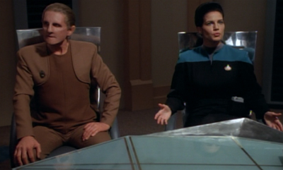 Odo's not used to being on this side of the interrogation...