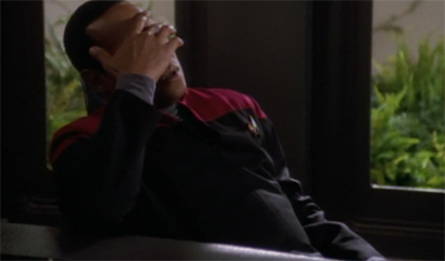 Picard's not the only one who can get a good face palm going on...