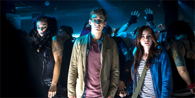 They're night-clubbing, bright-light-clubbing...