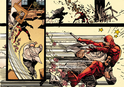 Daredevil Vs Kingpin Knocking down the Kingpin
