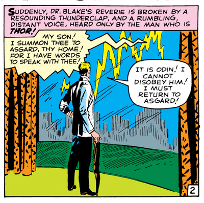 A flash of inspiration... (As an aside, I love how Kirby draws the lightning to resemble an audio wave...)