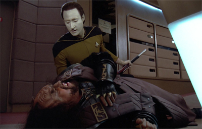 Riker really floored his commanding officer...