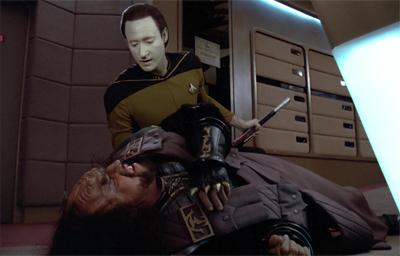Riker really floored his commanding officer...
