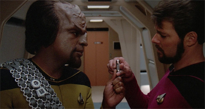 At least Riker knows that a rescue will come at Worf speed if he needs it...