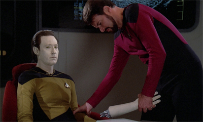 Riker adopts a hands-off approach...