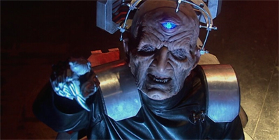 Davros isn't one to point fingers. Mainly because he doesn't have many...