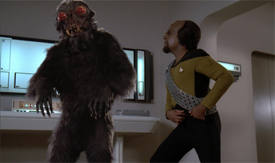 Dammit, Worf! Stop dramatically reaching for your phaser in slow motion!
