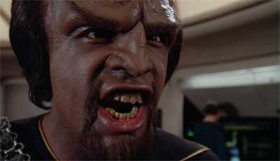He is Klingon, hear him roar!