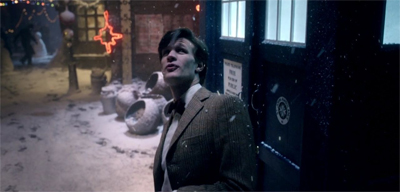 The Doctor steps into Christmas...